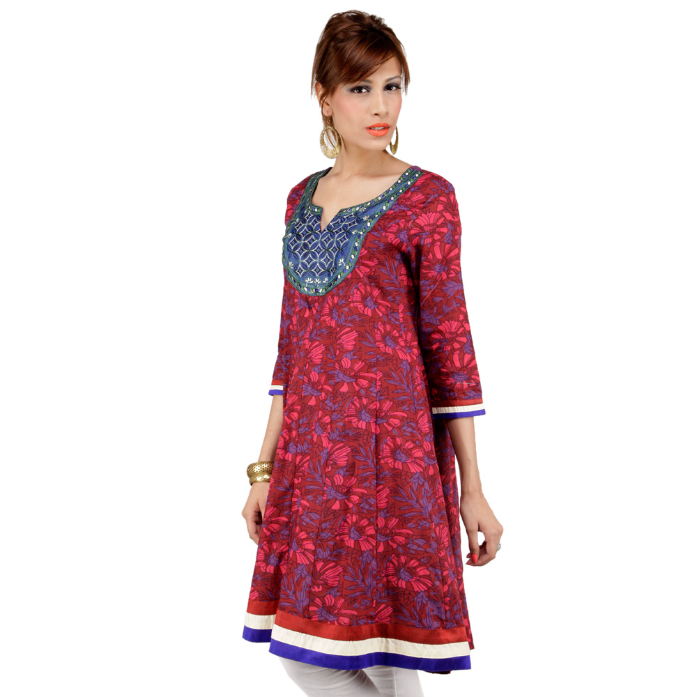 Shirt design kurti - Latest Women Cotton Shirts And Kurti Designs For Spring Summer 9