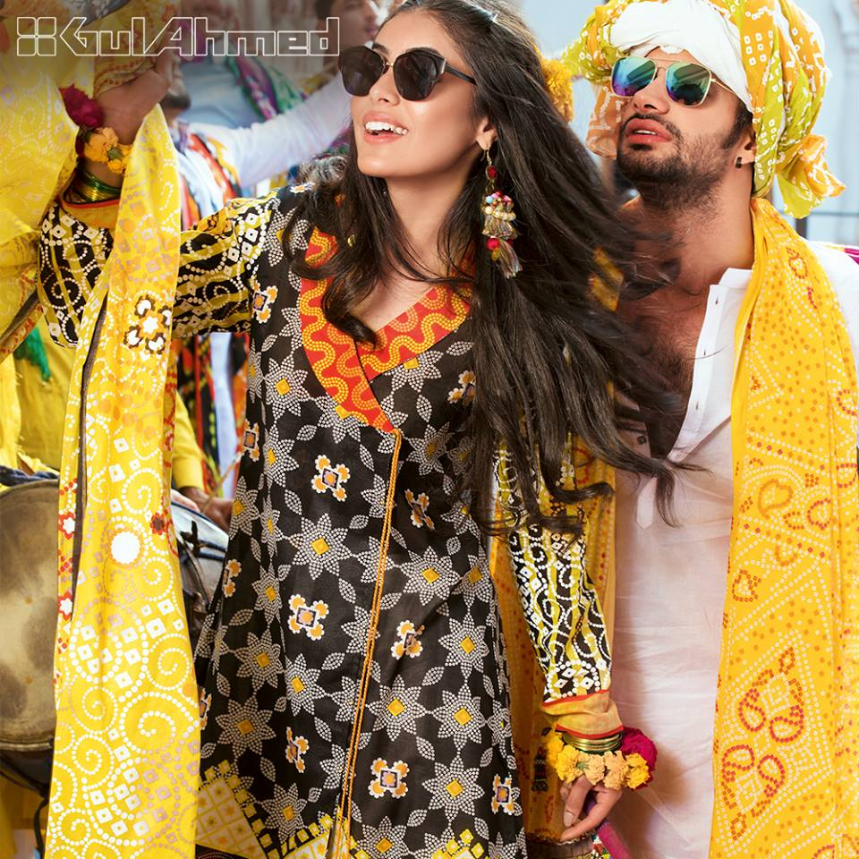 Gul Ahmed Chunri Printed Summer Lawn Dresses Designs 2017-2018 (6)