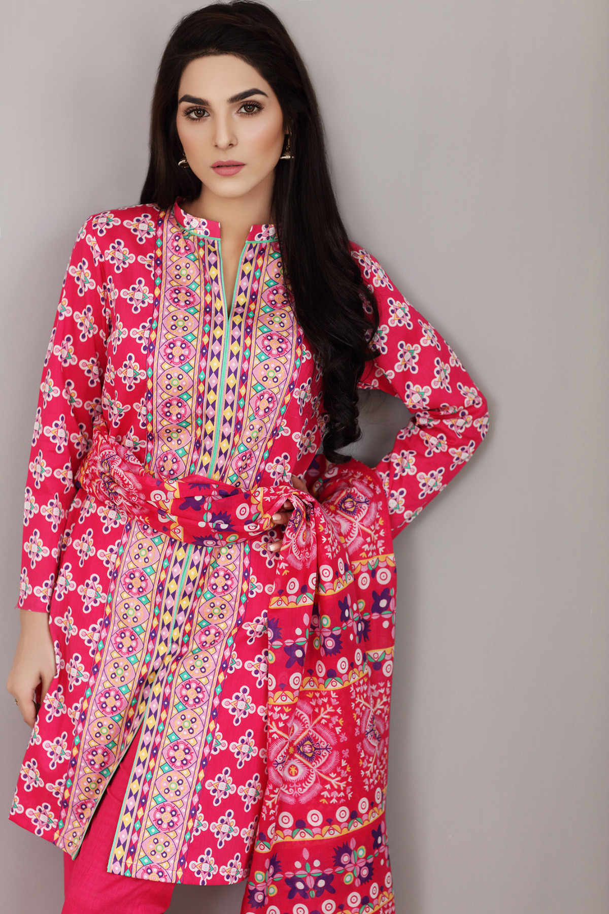 Gul Ahmed Printed Summer Lawn Dresses Collection 2017-2018