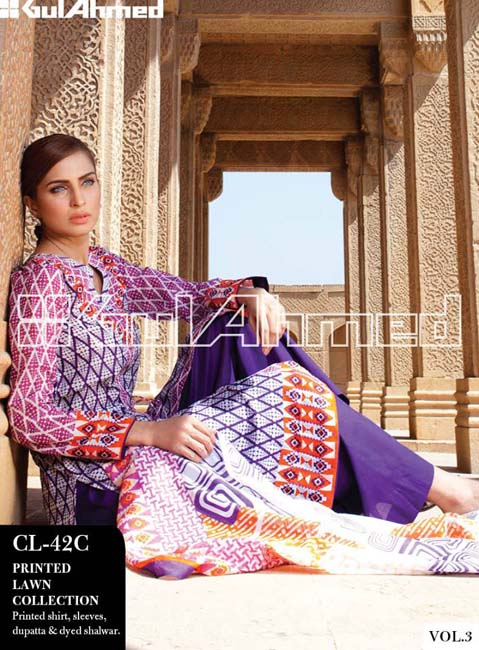 Gul Ahmed Lawn Summer Collection for Women 2014-2015 (1)