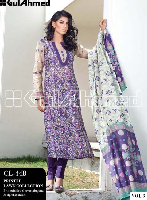 Gul Ahmed Lawn Summer Collection for Women 2014-2015 (10)