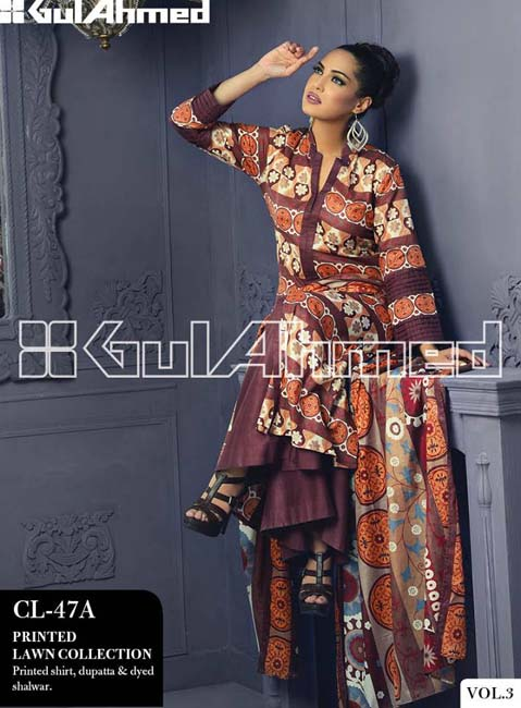 Gul Ahmed Lawn Summer Collection for Women 2014-2015 (11)