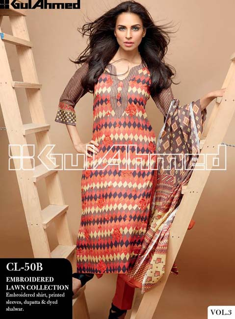 Gul Ahmed Lawn Summer Collection for Women 2014-2015 (12)