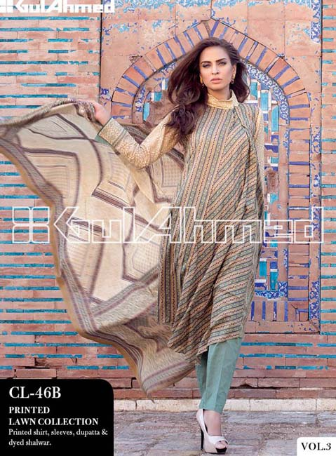 Gul Ahmed Lawn Summer Collection for Women 2014-2015 (13)