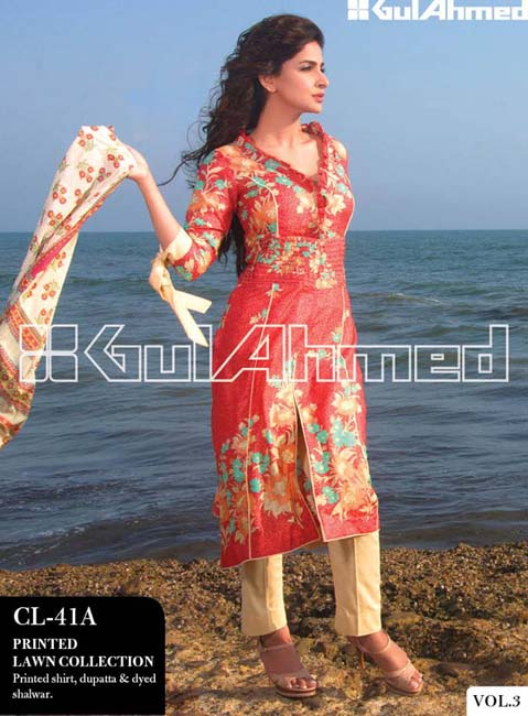 Gul Ahmed Lawn Summer Collection for Women 2014-2015 (2)