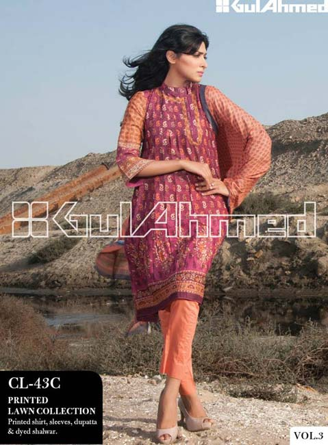 Gul Ahmed Lawn Summer Collection for Women 2014-2015 (3)