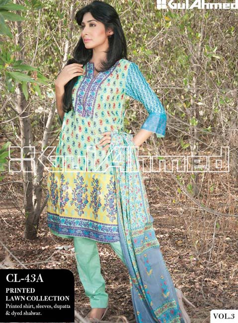 Gul Ahmed Lawn Summer Collection for Women 2014-2015 (4)