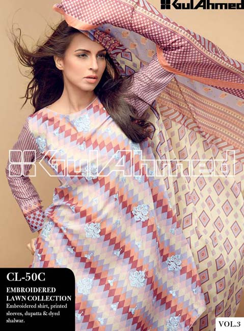 Gul Ahmed Lawn Summer Collection for Women 2014-2015 (5)