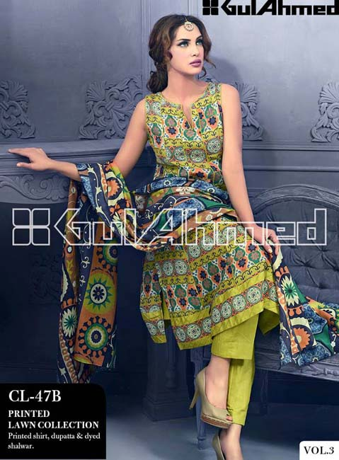 Gul Ahmed Lawn Summer Collection for Women 2014-2015 (7)