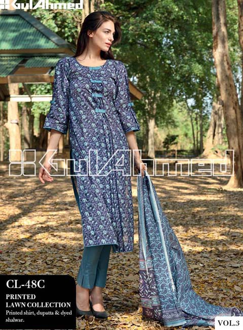 Gul Ahmed Lawn Summer Collection for Women 2014-2015 (8)
