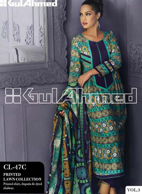 Gul Ahmed Lawn Summer Collection for Women 2014-2015 (9)