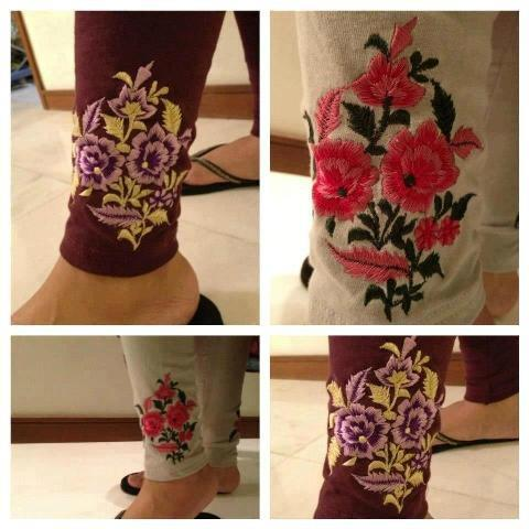 Latest Printed Palazzo and Embroidered Tights for Women (15)