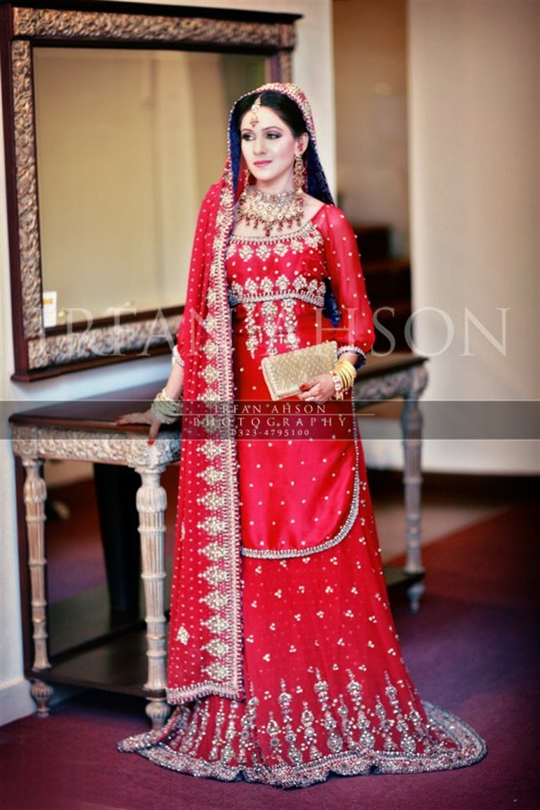 Red indian wedding dresses 2018