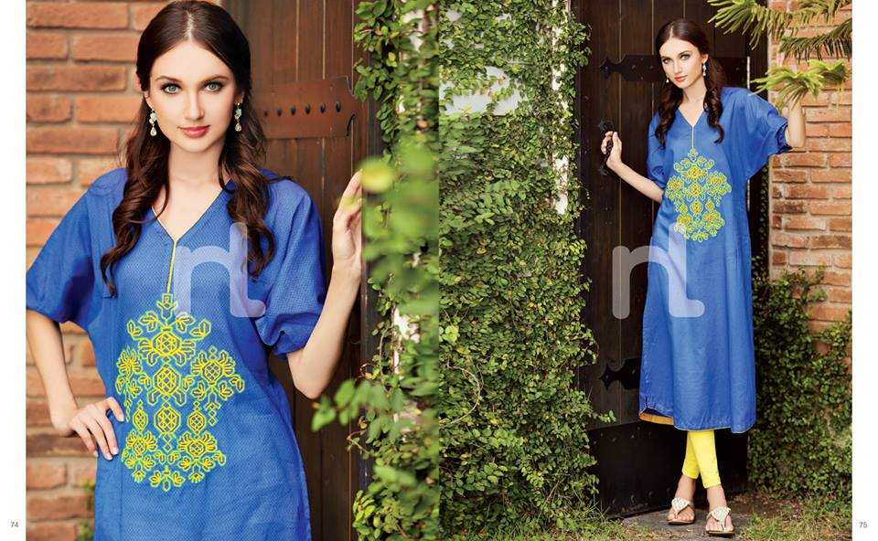 Latest Summer Spring Dresses 2014 By Nishat Linen NL Pret Wear 10 - Latest Summer/Spring Dresses 2014 For Women by Nishat Linen