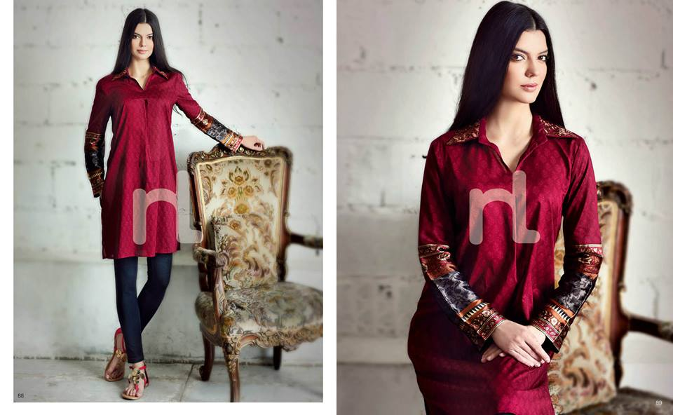 Latest Summer Spring Dresses 2014 By Nishat Linen NL Pret Wear 13 - Latest Summer/Spring Dresses 2014 For Women by Nishat Linen