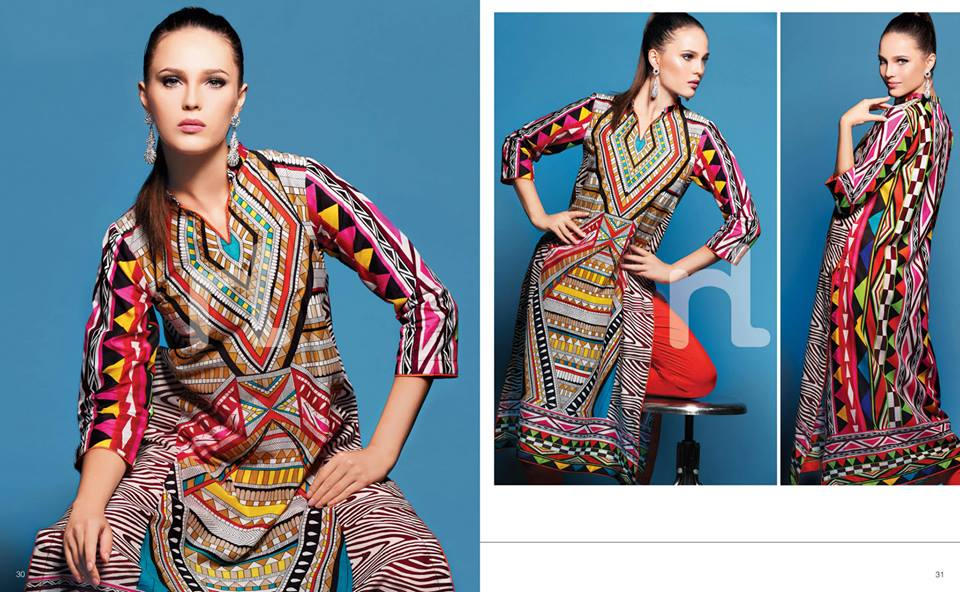 Latest Summer Spring Dresses 2014 By Nishat Linen NL Pret Wear 14 - Latest Summer/Spring Dresses 2014 For Women by Nishat Linen