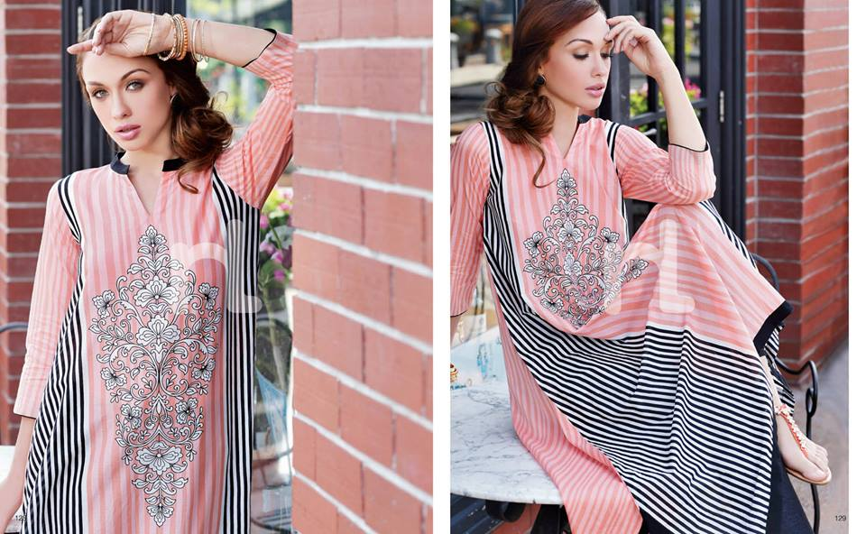 Latest Summer Spring Dresses 2014 By Nishat Linen NL Pret Wear 15 - Latest Summer/Spring Dresses 2014 For Women by Nishat Linen