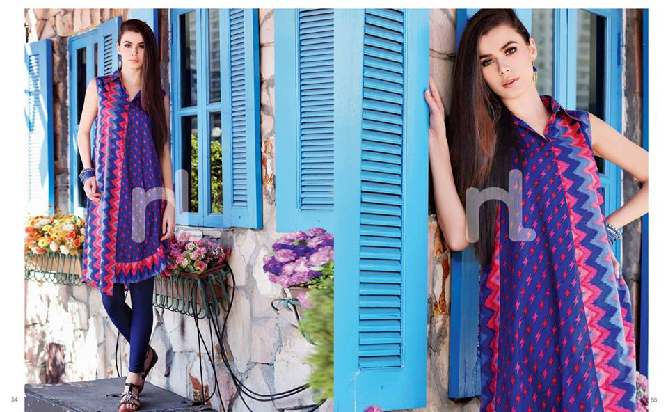 Latest Summer Spring Dresses 2014 By Nishat Linen NL Pret Wear 18 - Latest Summer/Spring Dresses 2014 For Women by Nishat Linen
