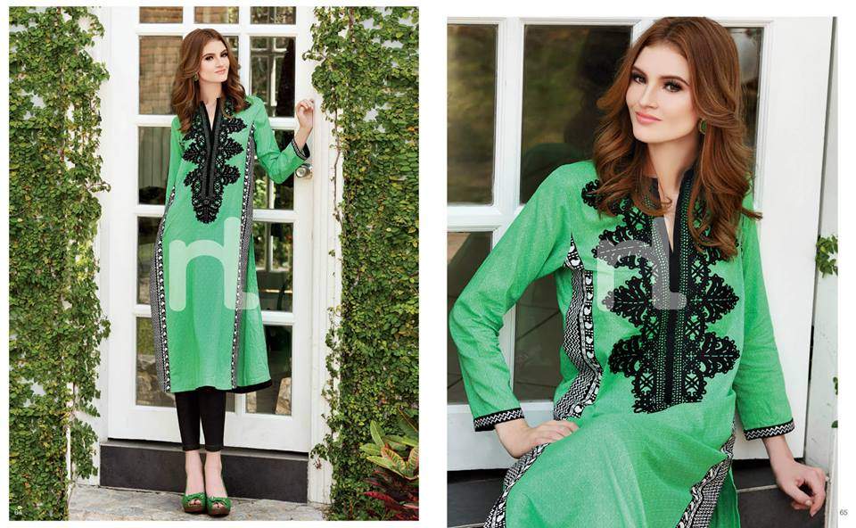 Latest Summer Spring Dresses 2014 By Nishat Linen NL Pret Wear 19 - Latest Summer/Spring Dresses 2014 For Women by Nishat Linen