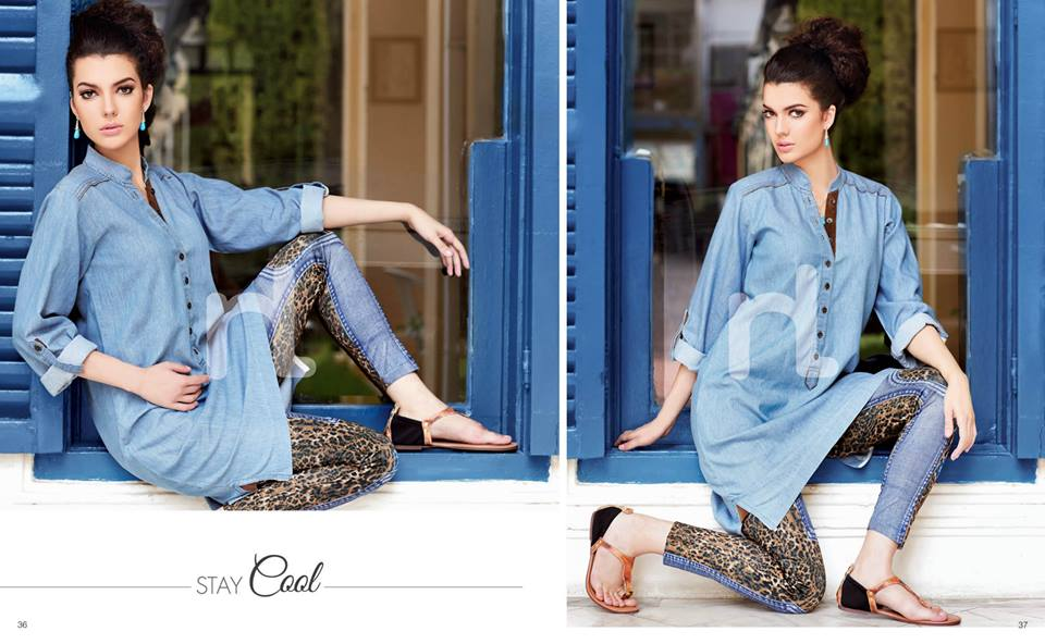 Latest Summer Spring Dresses 2014 By Nishat Linen NL Pret Wear 2 - Latest Summer/Spring Dresses 2014 For Women by Nishat Linen