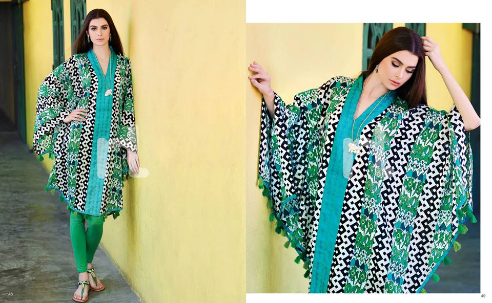 Latest Summer Spring Dresses 2014 By Nishat Linen NL Pret Wear 22 - Latest Summer/Spring Dresses 2014 For Women by Nishat Linen