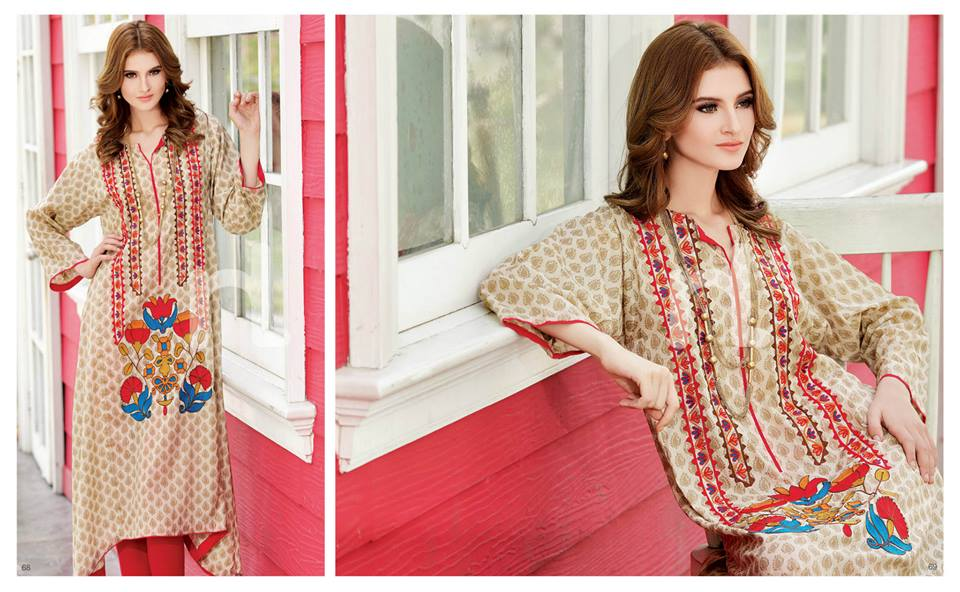 Latest Summer Spring Dresses 2014 By Nishat Linen NL Pret Wear 3 - Latest Summer/Spring Dresses 2014 For Women by Nishat Linen