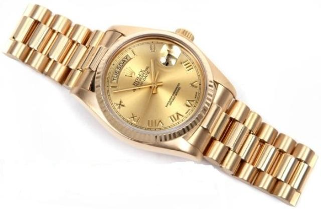 Latest Watch Designs and New Arrivals 2014 for Men by Gold Rolex  (5)