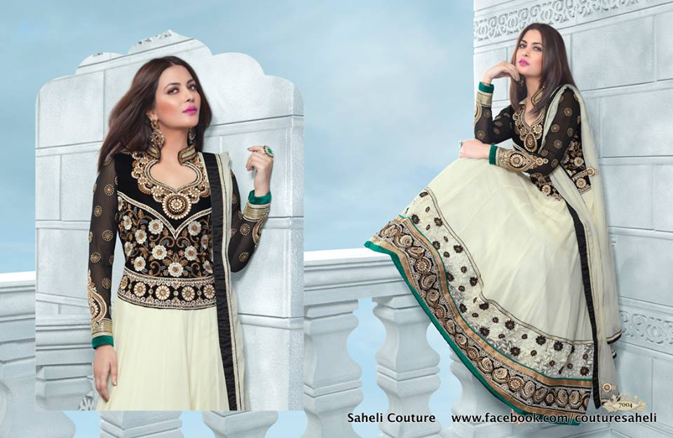 Long Floral Length Frocks Anarkali Dresses By Rivaaj Saheli Couture (10)