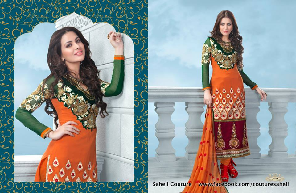 Long Floral Length Frocks Anarkali Dresses By Rivaaj Saheli Couture (13)