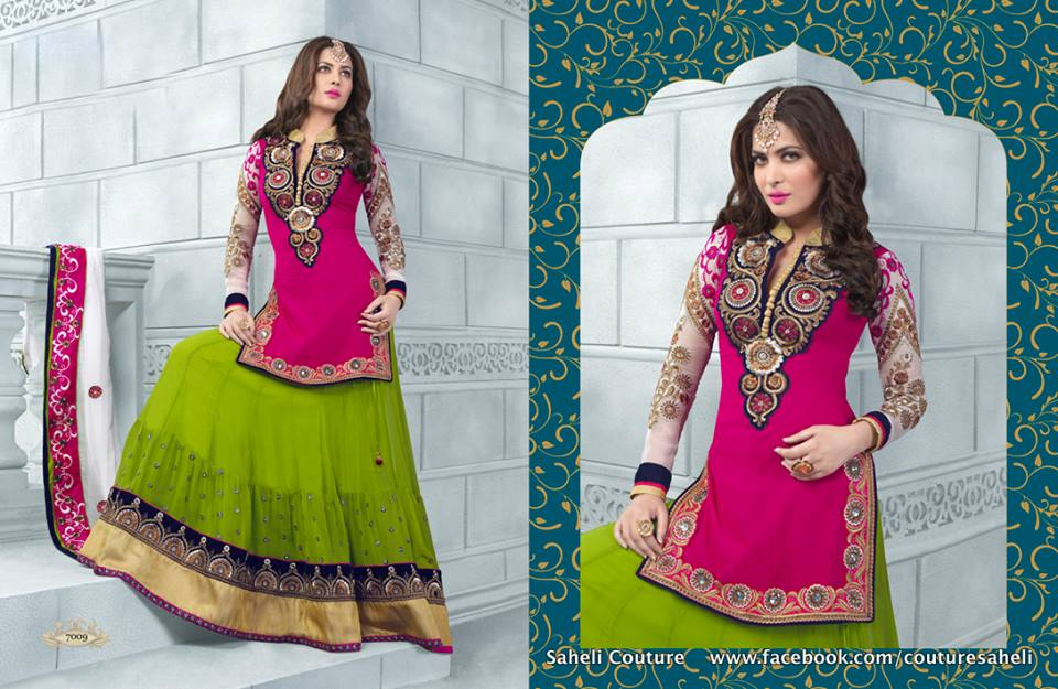Long Floral Length Frocks Anarkali Dresses By Rivaaj Saheli Couture (4)
