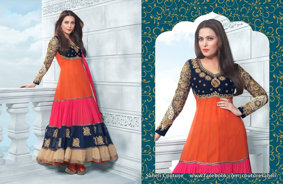 Long Floral Length Frocks Anarkali Dresses  By Rivaaj Saheli Couture   (7)