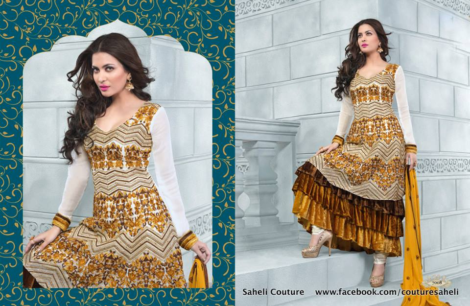 Long Floral Length Frocks Anarkali Dresses  By Rivaaj Saheli Couture   (9)
