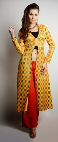Long Front Open Double Shirts with Palazzo and Lehenga For Girls (7)
