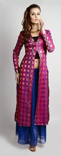 Long Front Open Double Shirts with Palazzo and Lehenga For Girls (8)