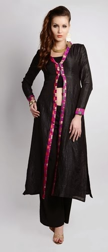 Long Front Open Double Shirts with Palazzo and Lehnga (3)
