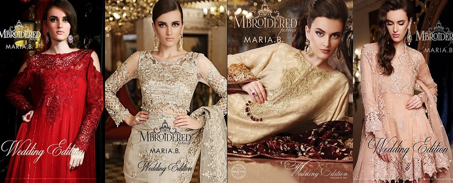 Maria B Latest Formal Wedding Dresses Collection 2017-2018