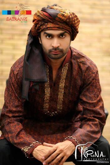 Summer-Spring Dresses Cotton Kurta for Men by Satrangi 2014-2015  (1)