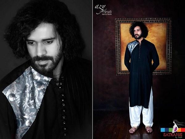 Summer-Spring Dresses Cotton Kurta for Men by Satrangi 2014-2015  (3)