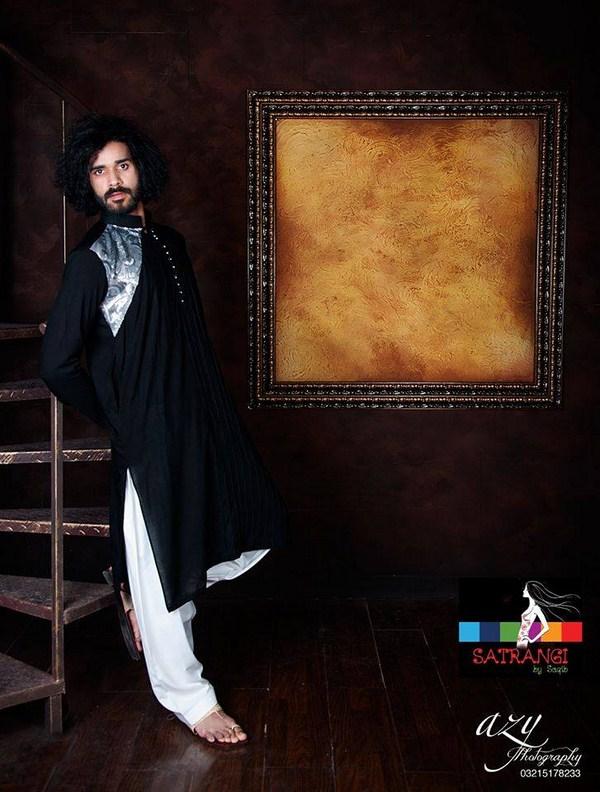Summer-Spring Dresses Cotton Kurta for Men by Satrangi 2014-2015  (5)