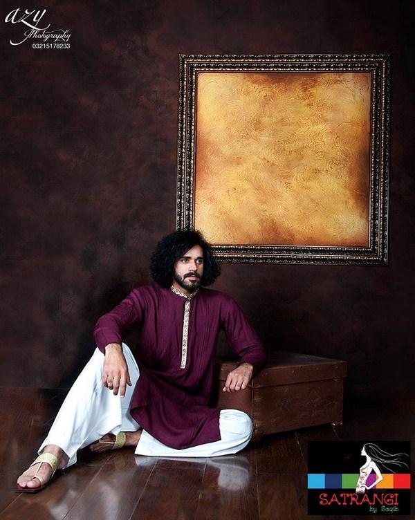 Summer-Spring Dresses Cotton Kurta for Men by Satrangi 2014-2015  (6)