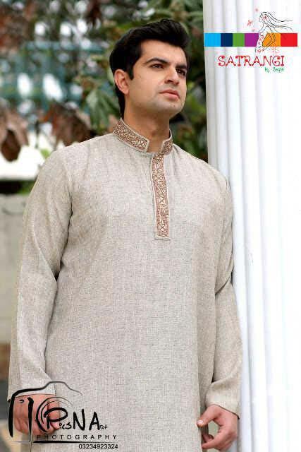 Summer-Spring Dresses Cotton Kurta for Men by Satrangi 2014-2015  (8)