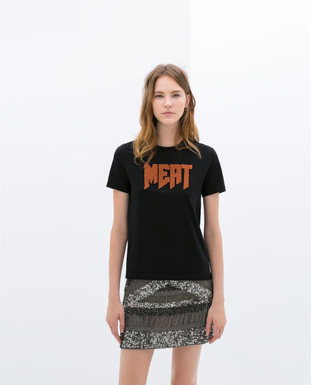 Zara summer spring t shirts collection for women for Zara black t shirt dress