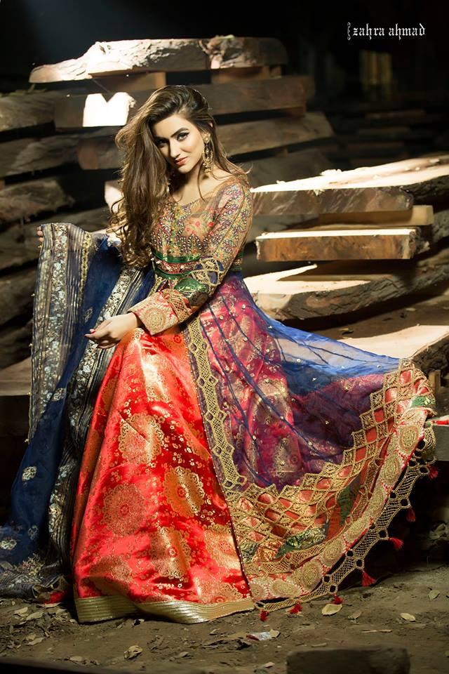 4d4778408abe4 Latest Women Party Wear Fancy Formal Dresses 2018-19 Designs by Jannat Nazir