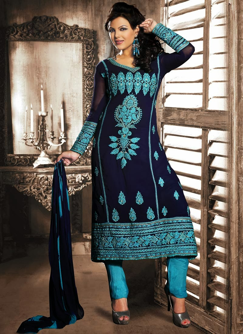 Fancy Indian Angrakha Frocks And Anarkali Suits Fashion