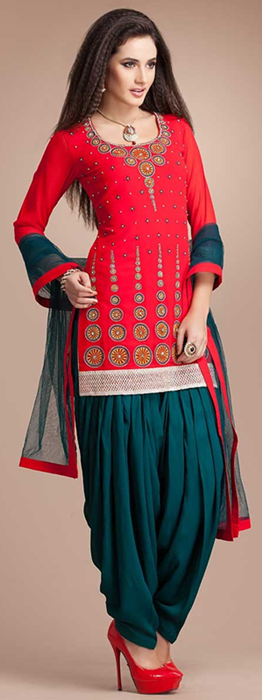 Indian Patiala Salwar Kameez Punjabi Suits 2014-2015 (10)