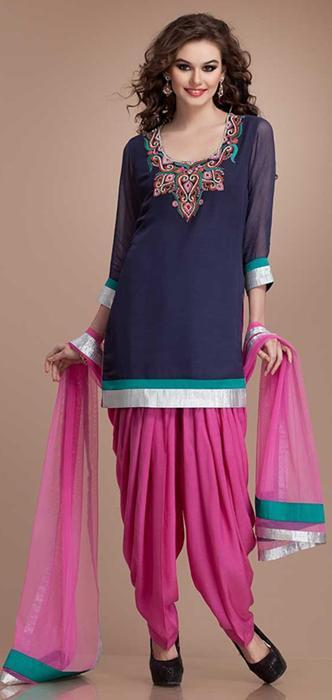 Indian Patiala Salwar Kameez Punjabi Suits 2014-2015 (11)