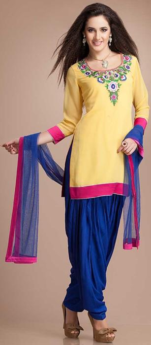 Indian Patiala Salwar Kameez Punjabi Suits 2014-2015 (5)