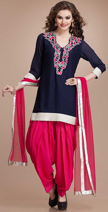 Indian Patiala Salwar Kameez Punjabi Suits 2014-2015 (6)