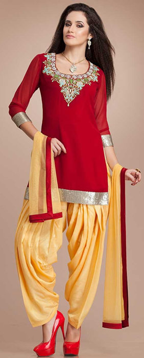 Indian Patiala Salwar Kameez Punjabi Suits 2014-2015 (7)