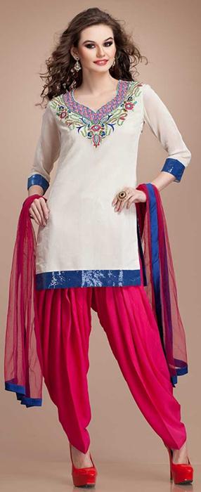 Indian Patiala Salwar Kameez Punjabi Suits 2014-2015 (8)